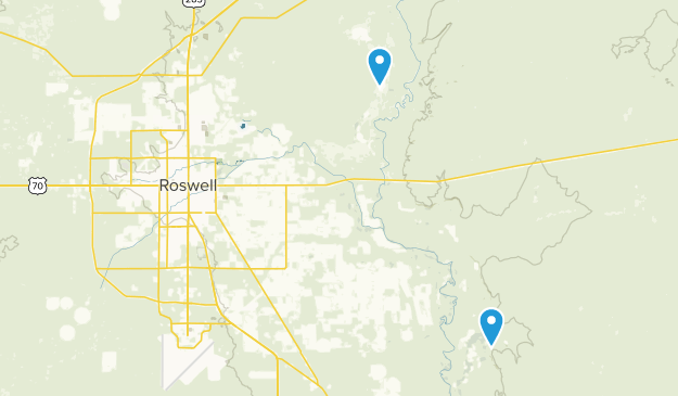 Roswell, New Mexico Map