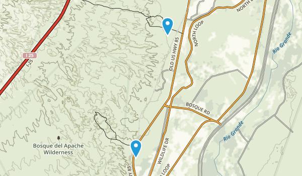 San Antonito, New Mexico Map
