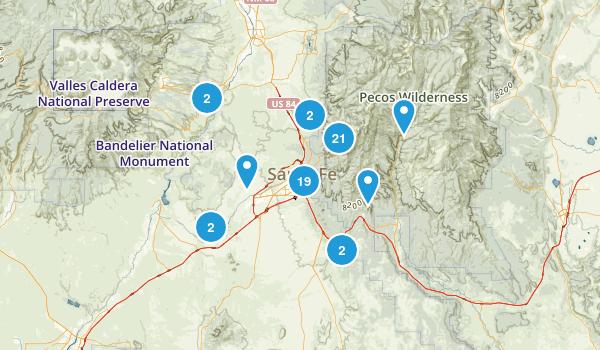 Santa Fe, New Mexico Map