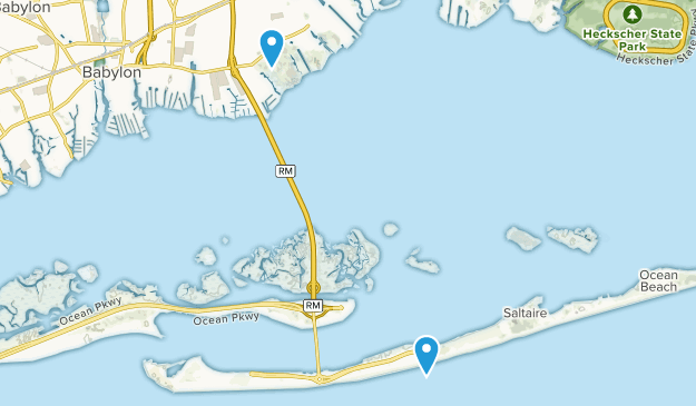 Bay Shore, New York Map
