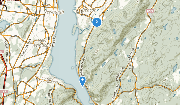 trail locations for Beacon, New York