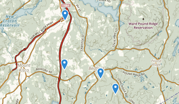 trail locations for Bedford, New York