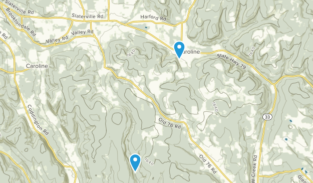Brooktondale, New York Map