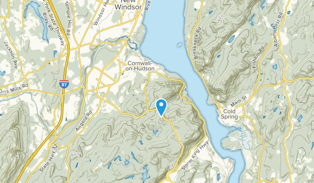 Cornwall-on-Hudson, New York Map
