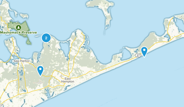 East Hampton, New York Map