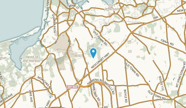 East Setauket, New York Map