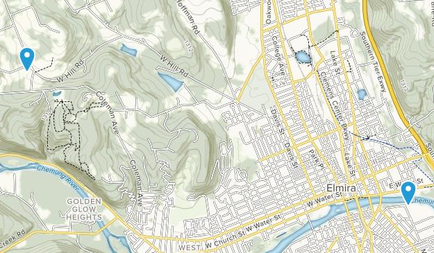 Elmira, New York Map