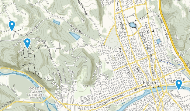 Elmira, New York Map