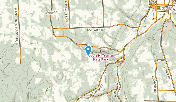 Enfield, New York Map