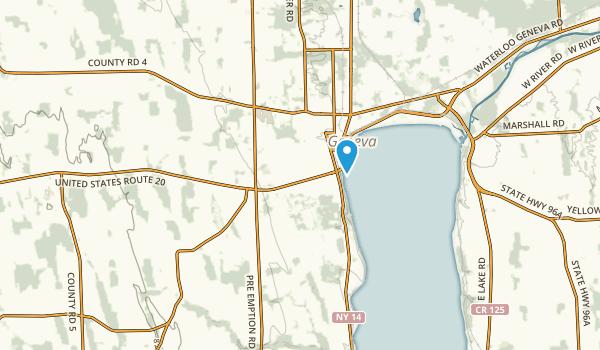 Geneva, New York Map