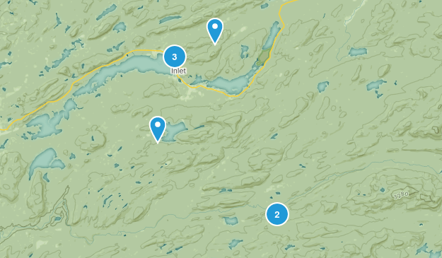 Inlet, New York Map