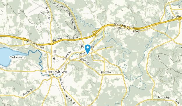 Jamestown, New York Map