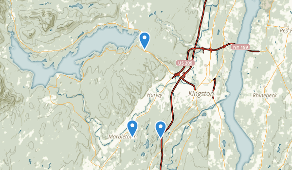 trail locations for Kingston, New York