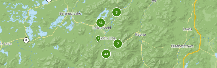 22 Miles From Canada To Lake Placid Map Best trails in Lake Placid, New York | AllTrails
