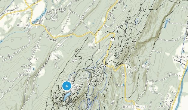 Mohonk Lake, New York Map