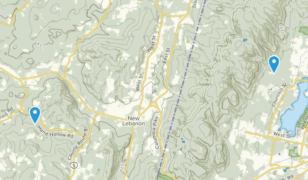 New Lebanon, New York Map