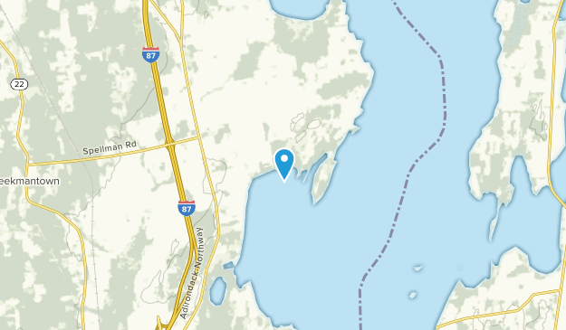Point Au Roche, New York Map
