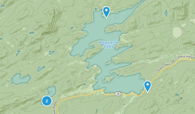Raquette Lake, New York Map