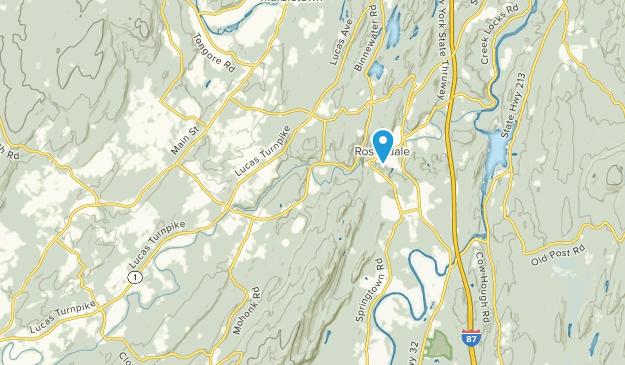 Rosendale Hamlet, New York Map
