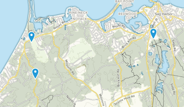 Sag Harbor, New York Map