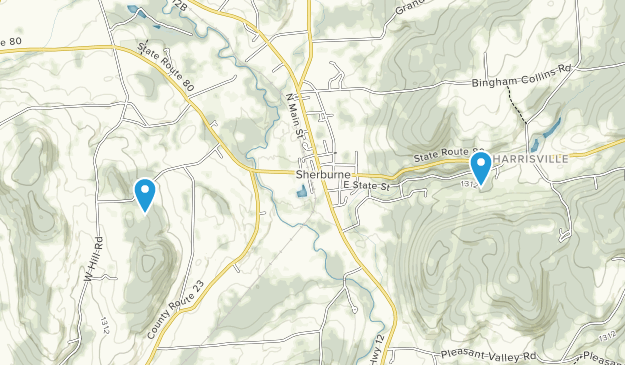 Sherburne, New York Map