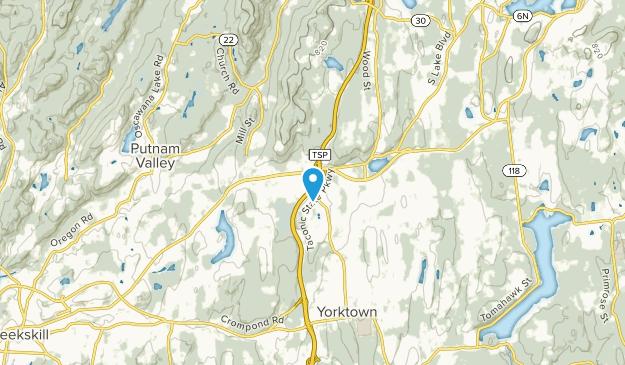 Shrub Oak, New York Map