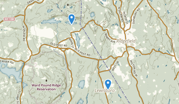 trail locations for South Salem, New York