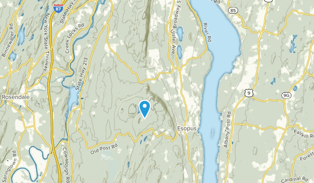 Ulster Park, New York Map