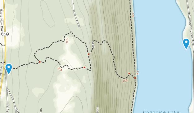 West Canadice Corners, New York Map