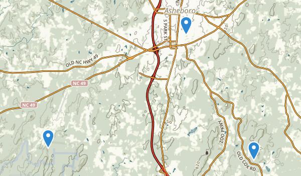Asheboro, North Carolina Map