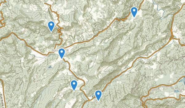 trail locations for Banner Elk, North Carolina