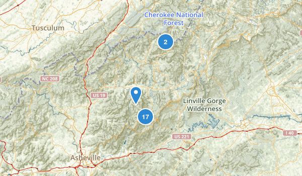 Burnsville, North Carolina Map