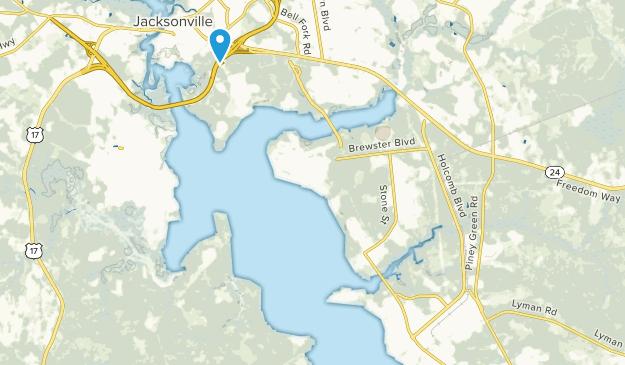 Camp Lejeune, North Carolina Map
