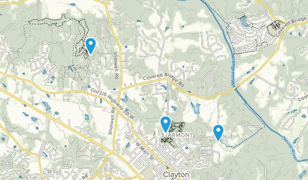 Clayton, North Carolina Map