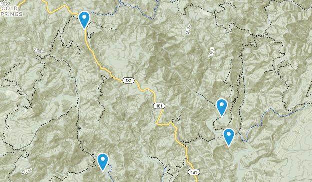 Cold Springs, North Carolina Map