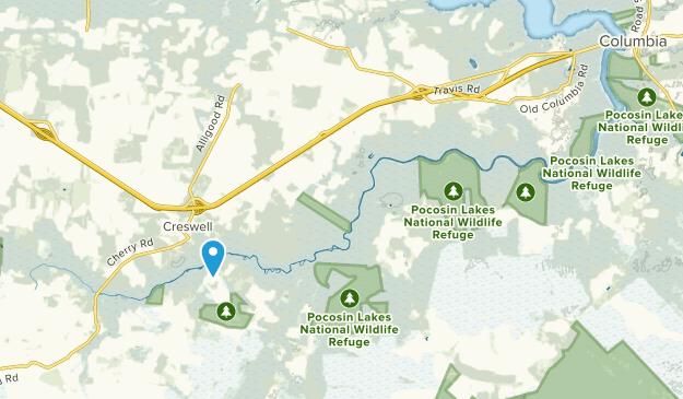 Columbia, North Carolina Map