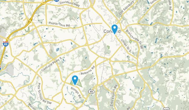 Concord, North Carolina Map