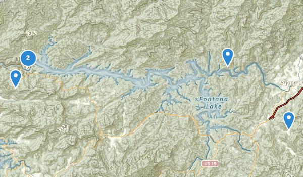 Fontana Dam, North Carolina Map