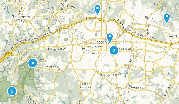 Gastonia, North Carolina Map