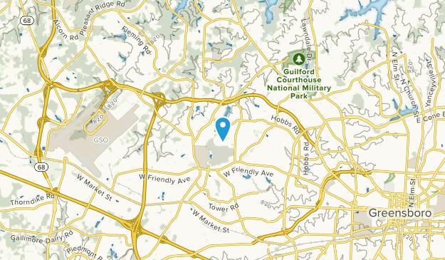 Guilford College, North Carolina Map