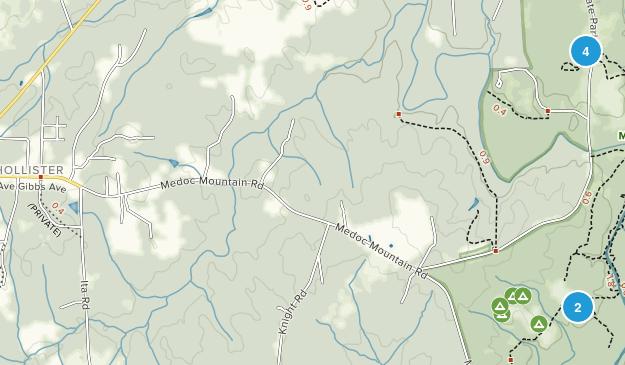 Hollister, North Carolina Map
