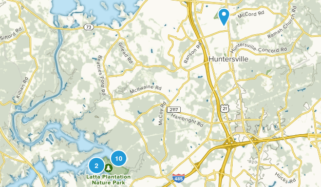 Huntersville, North Carolina Map