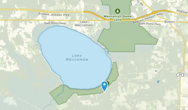 Lake Waccamaw, North Carolina Map