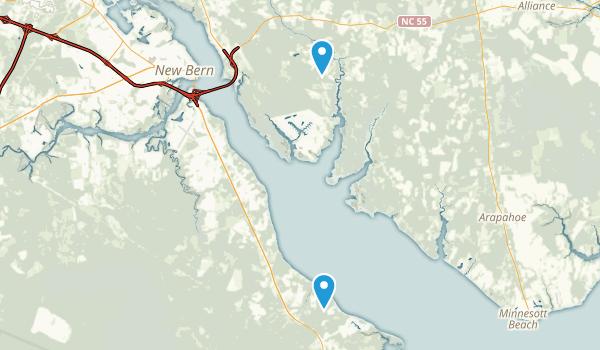 New Bern, North Carolina Map