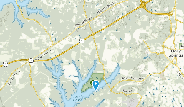New Hill, North Carolina Map