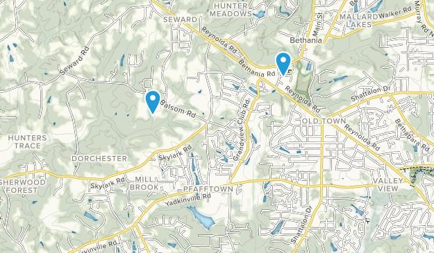 Pfafftown, North Carolina Map