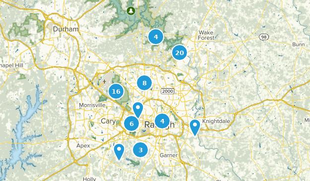 Raleigh, North Carolina Map