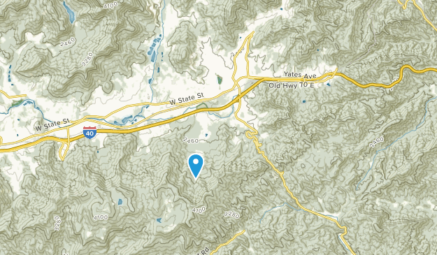 Ridgecrest, North Carolina Map
