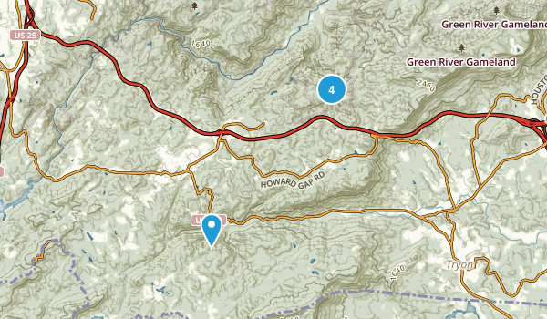 Saluda, North Carolina Map