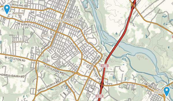 Weldon, North Carolina Map